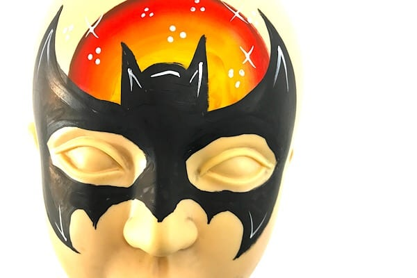 Batman face painting – how to face paint Batman step by step