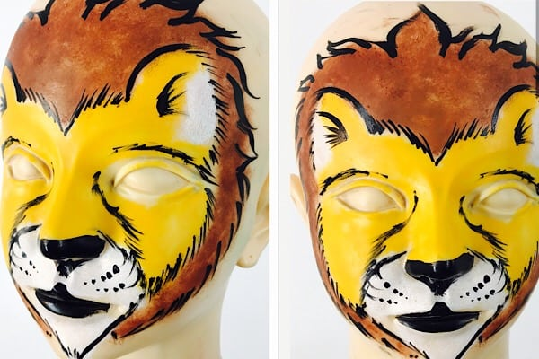 How to face paint a lion – lion face painting step by step