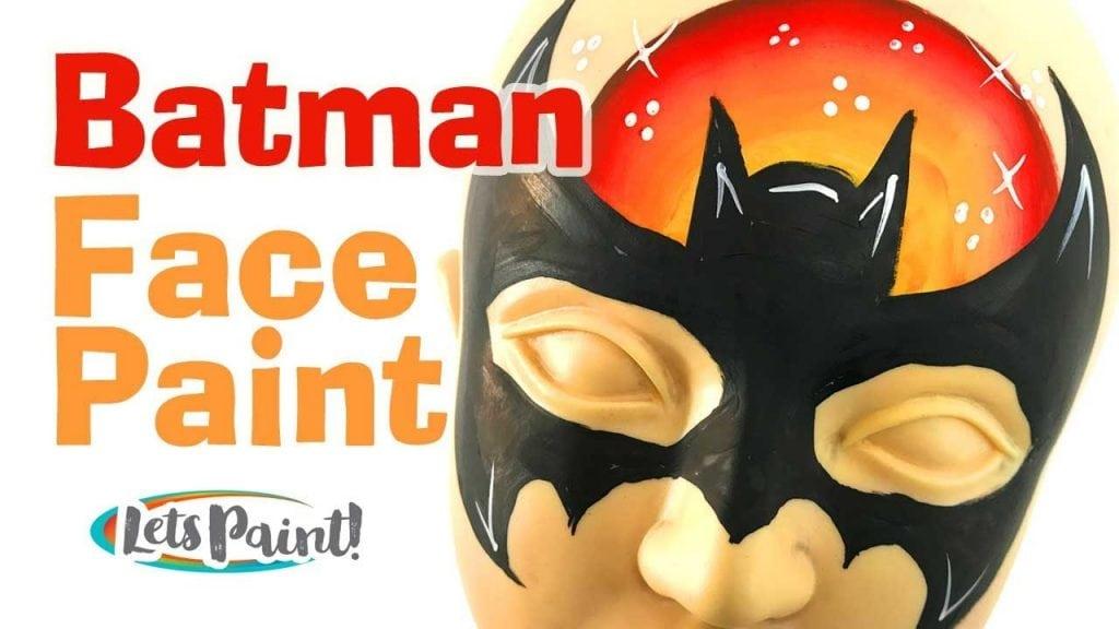 Batman face paint step by step – How to face paint Batman