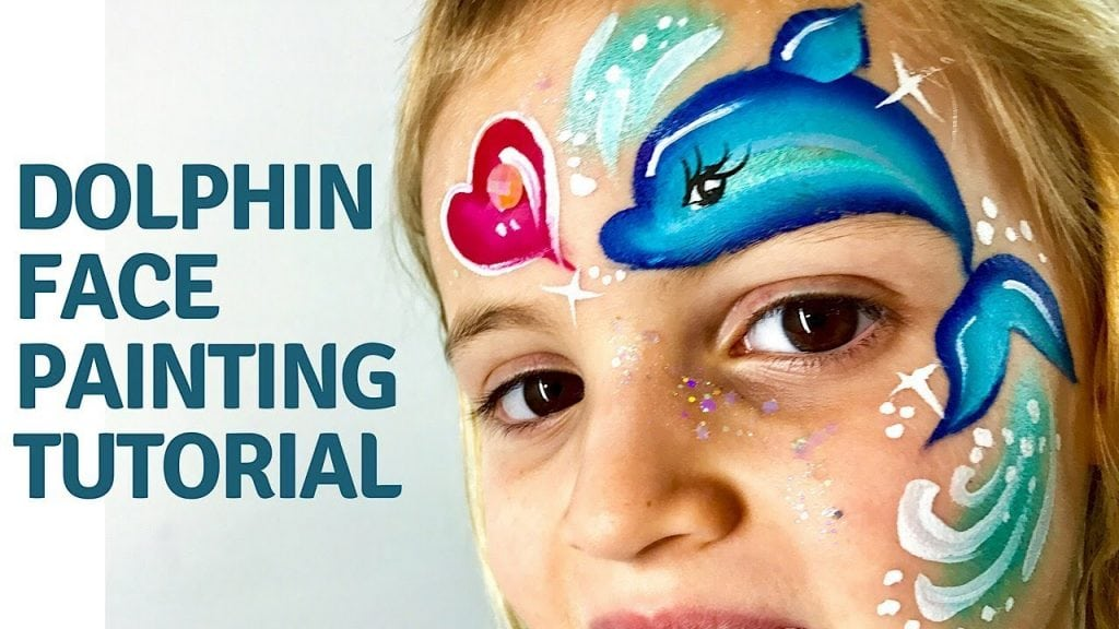 Dolphin Face Painting Tutorial – How to Face Paint a Dolphin