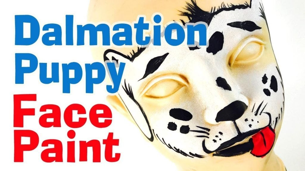 How to Face Paint a Dalmatian Puppy Dog