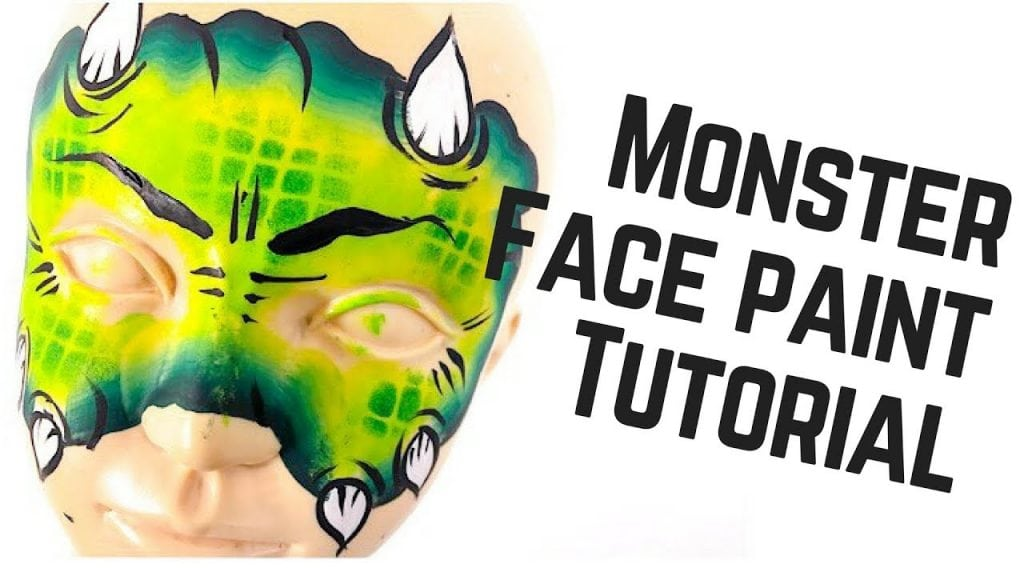 How to Face Paint a Green Monster