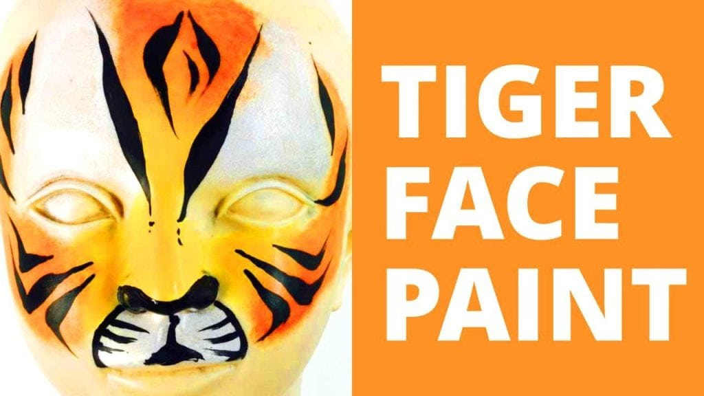 How to Face Paint a Tiger – Tiger Face Paint
