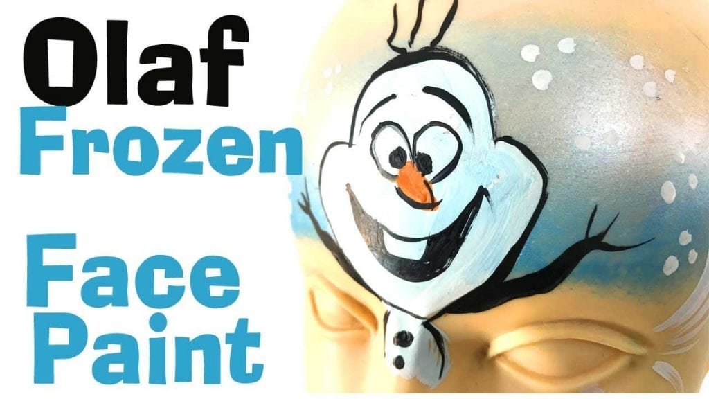 How to face paint Olaf from Frozen
