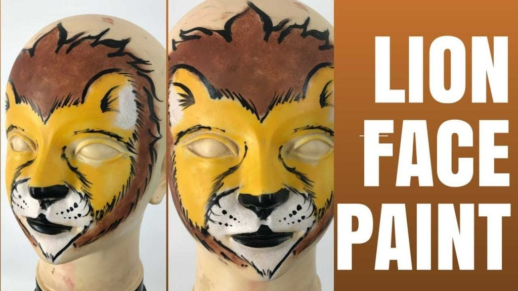 Lion Face Painting Tutorial – How to face paint a lion face