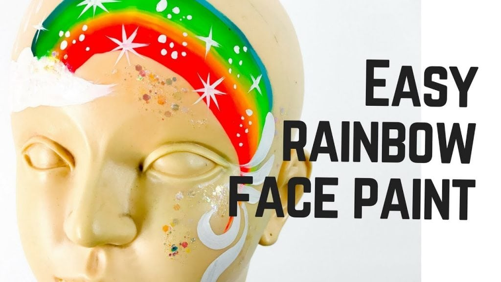 Rainbow Face Paint Easy and Fast