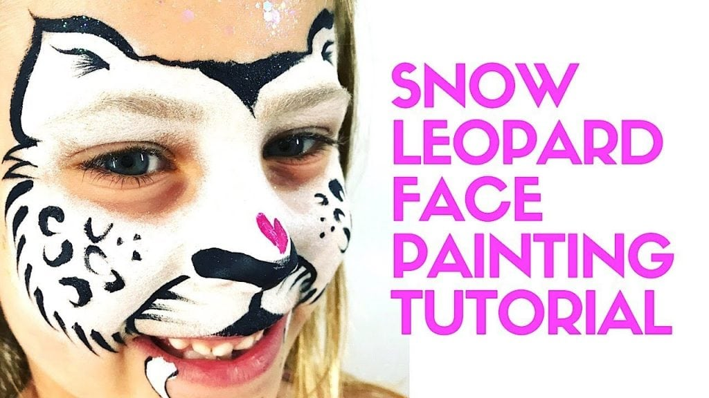 Snow Leopard Face Painting Tutorial – How to Face Paint a Snow Leopard