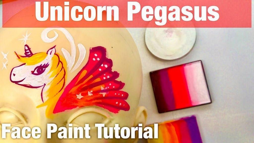 How to Face Paint a Unicorn Pegasus