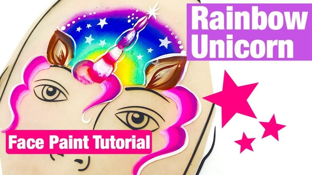 Rainbow Unicorn Face Painting Tutorial How to face paint a rainbow unicorn