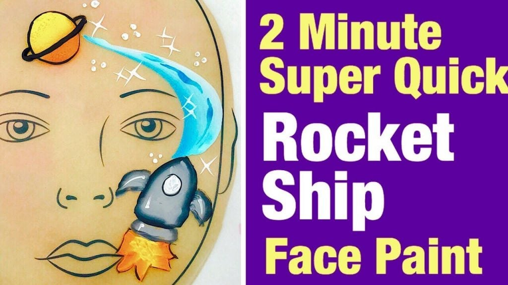 Rocket Ship Face Painting Class – How to face paint a rocket ship fast