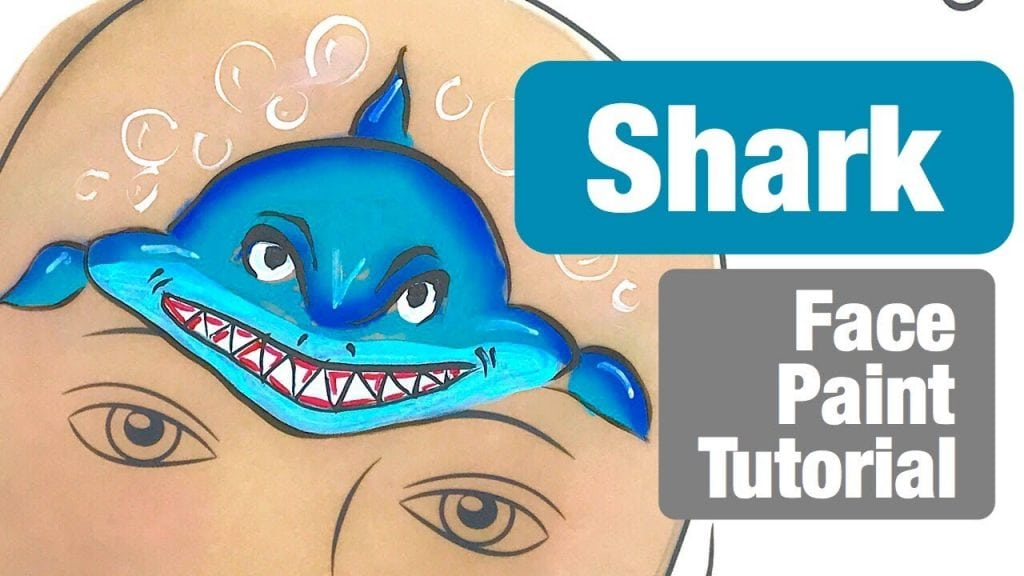 Shark Face Painting Class How to Face Paint a Shark