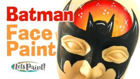 Batman face paint step by step – How to face paint Batman