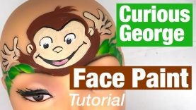 Curious George Monkey Face Painting Monkey Face Painting Tutorial