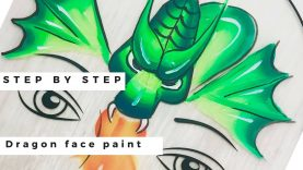 Dragon Face Painting Tutorial – How to Face Paint a Dragon