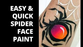 Easy Spider Face Paint – How to Face Paint a Spider
