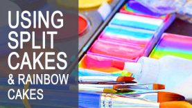 Face Painting Classes – Using split cakes and rainbow cakes