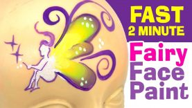 Fast Fairy Face Painting – How to face paint a fairy in under 2 minutes