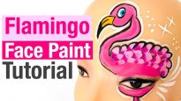 Flamingo Face Paint How to Face Paint a Flamingo