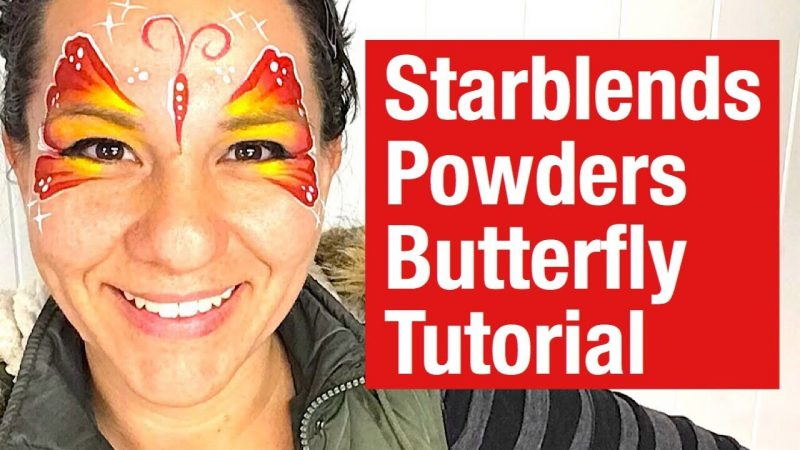 How to face paint a butterfly with Starblends Face Painting Powders