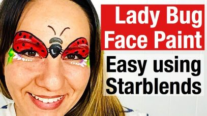 How to face paint a lady bug lady beetle using starblends