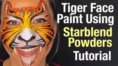 How to face paint a Tiger using Starblend Powders