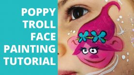 Poppy Troll Face Painting Tutorial – How to Face Paint Poppy Troll