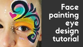 Pretty Eye Design Face Painting Tutorial Using Starblends