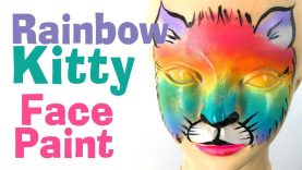 Rainbow Kitty Face Paint Tutorial – Learn how to face paint a Rainbow Kitty