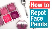 Repotting Face Paints for your Face Painting Set Up