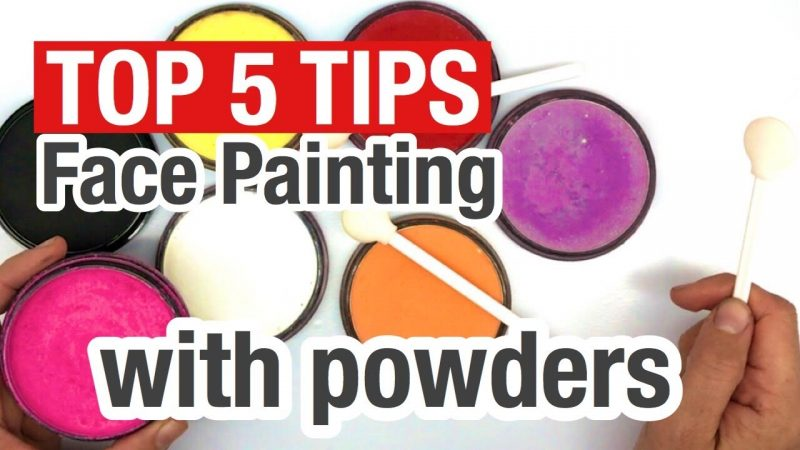 Top 5 tips for face painting with Starblends How to face paint using powders
