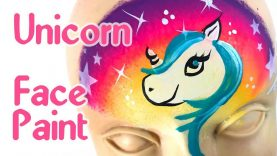 Unicorn face paint step by step