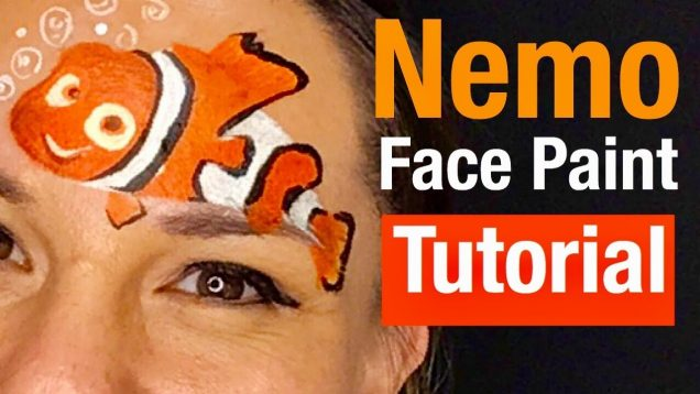 Finding Nemo Face Painting Class How to Face Paint Nemo