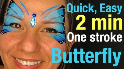 One Stroke Butterfly Face Paint No Sponging Easy and quick butterfly