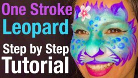 One Stroke Pretty Leopard Face Painting Class