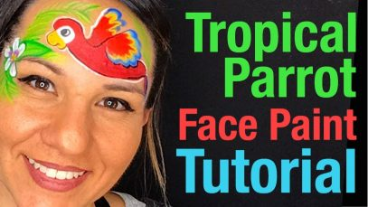 Parrot Face Painting Tutorial How to face paint a Parrot