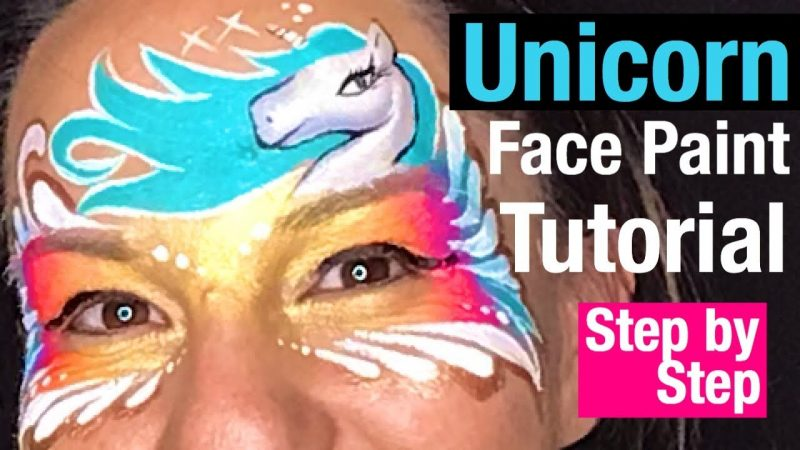 Unicorn Mask Face Painting Class – How to Face Paint a Unicorn Mask