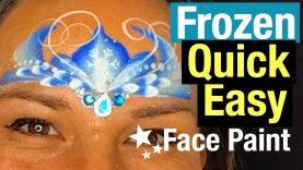Frozen Face Paint Tutorial Frozen Elsa Crown