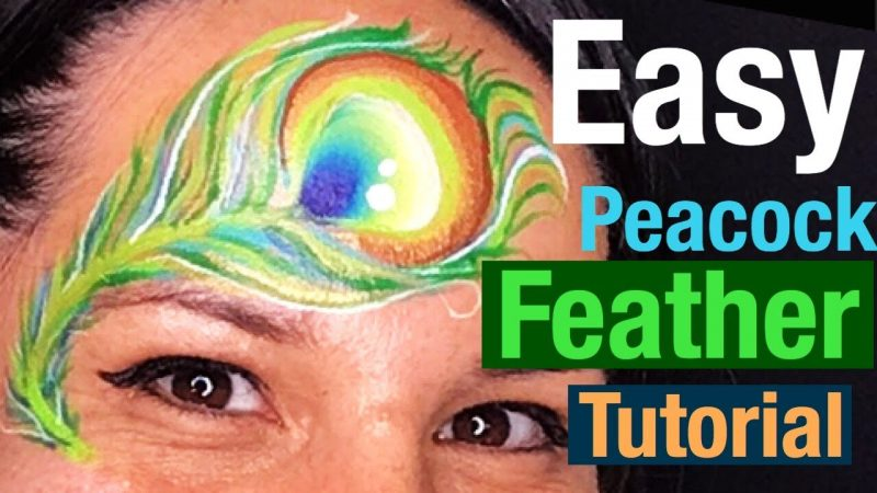 How to Face Paint a Peacock Feature Easily
