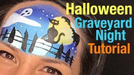 Halloween Graveyard Night Face Painting Tutorial