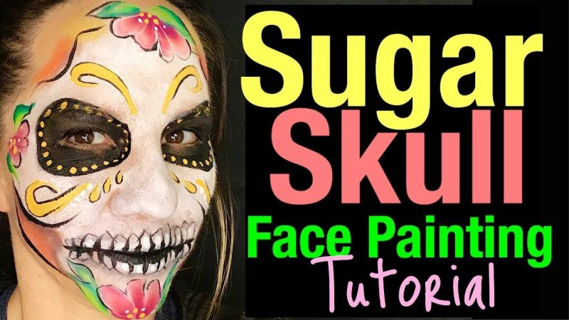 Sugar Skull Face Paint Tutorial How to Face Paint Sugar Skulls