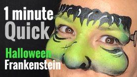 Frankenstein Face Paint Quick 2 Minute