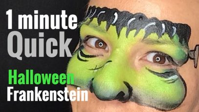 Frankenstein Face Paint Quick 2 Minute