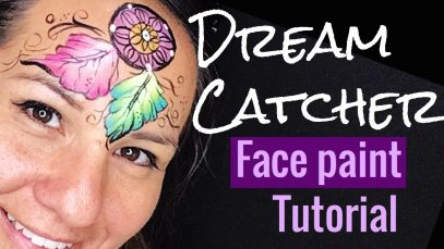 Dream Catcher Face Paint Tutorial