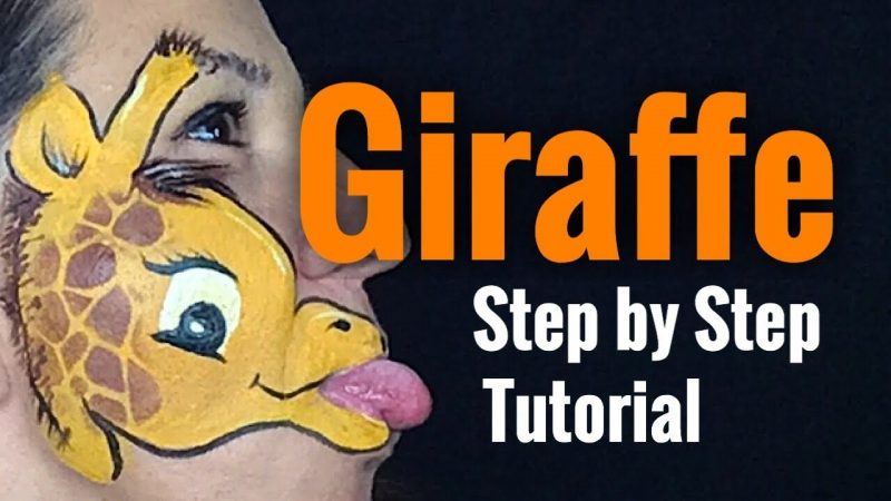 Giraffe Face Paint How to Face Paint a Giraffe