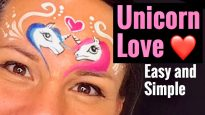 Unicorn Love – Valentines Day Unicorn Face Painting Tutorial