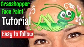 Grasshopper face paint. How to face paint a grasshopper