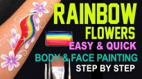 Rainbow Flower Body & Face Painting Tutorial