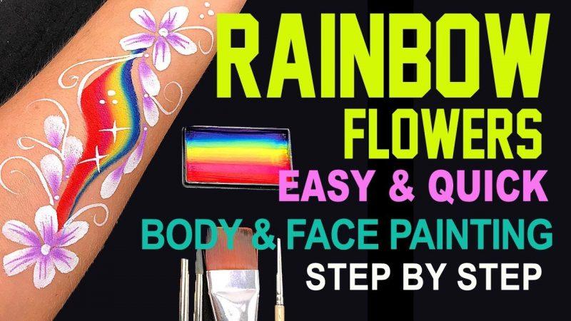 Rainbow Flower Body & Face Painting Tutorial