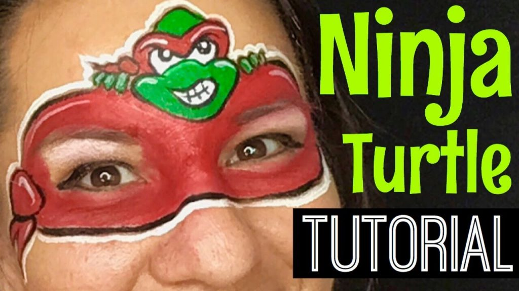 Ninja Turtle Face Paint Tutorial Face Painting Classes Online Learn To Face Paint