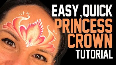 Quick, Fast and Easy Princess Crown Face Painting Tutorial
